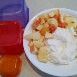 Clean Eating Yogurt and Apples